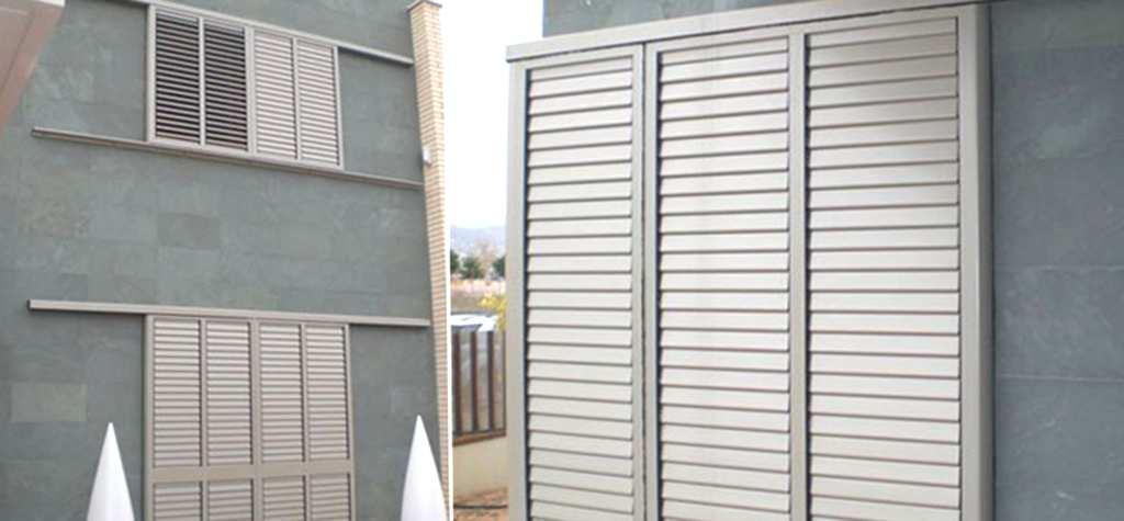 Cristaleria Madrid Ventanas mallorquinas de aluminio en madrid