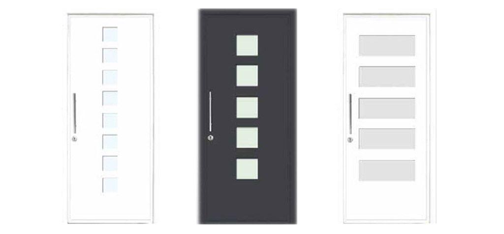 Puerta de cristal puertas de cristal en madrid cristales for Puertas interiores de aluminio y cristal